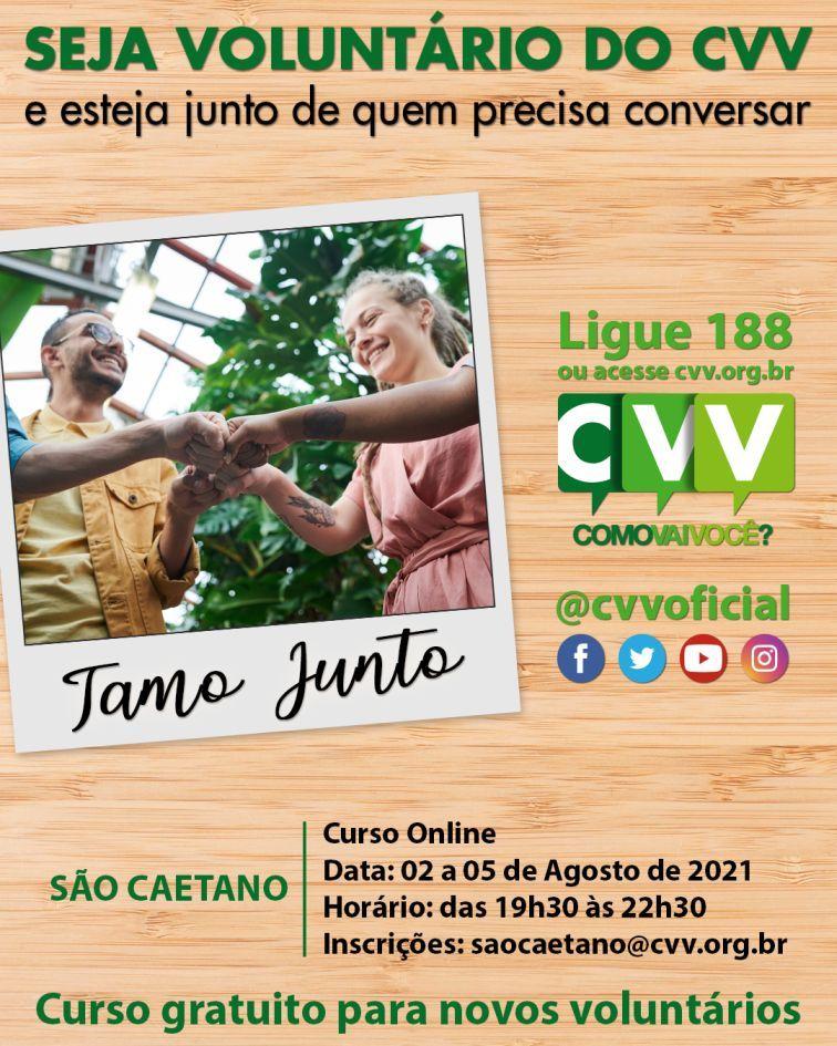 Centro de Valorização da Vida (CVV) de São Caetano abre curso online e gratuito para novos voluntários